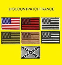 Flag USA AIRSOFT. Patch écusson thermocollant aufnäher toppa embroidered.