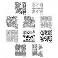 10 pcs Bundle Monster Square Nail Art Stamping Plate Mystic Woods Set 2