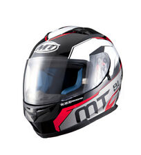 MT Helmets - Casco integral MT Blade SV Super negro, blanco, rojo