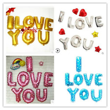 """16"""" I LOVE YOU FOIL BALLOONS VALENTINES DAY BALOON COUPLES HIS/HER PARTY DECOR"""