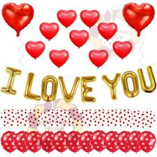 LARGE I LOVE YOU FOIL BALLOONS VALENTINES DAY BALOON COUPLES PARTY DECOR baloons