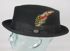 Bailey of Hollywood Arvid Pork Pie Cappello feltro-lana nero PORKPIE Trilby NEU
