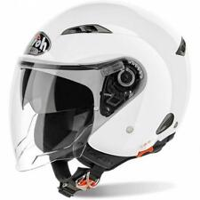 CASCO MOTO AIROH JET CITY ONE COLOR WHITE GLOSS CO14