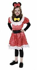 Childrens Minnie Mouse Fancy Polka Dot Costume Girls Fancy Dress Party Outfit