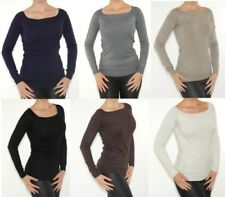 TOP TRICOT PULL TOP TRICOT Haut Chemisier manches longues doux stretch
