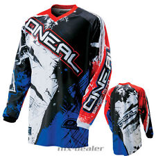 O'NEAL Element SHOCKER Azul Jersey Camiseta conductor MX Motocross MTB DH FR