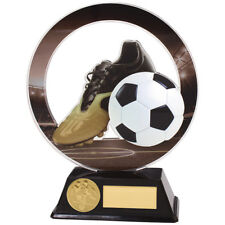 Dominon Acrylic Football Trophies Football Boot & Ball Awards FREE Engraving