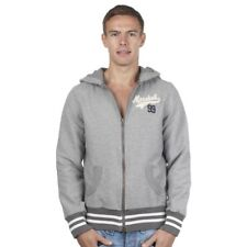 """Mens Hoody Franklin and Marshall """"99"""" Zip Thru F&M Thick Jumper - NEW - GREY"""