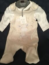 Tiny Baby Romper Dungarees Set 2 Pc 100% Cotton Baby Grow Mothercare Boys Girls