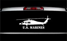 USMC UH-60 Blackhawk Side View Military Vet Aircraft Graphics Decal Sticker Car