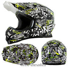 ONEAL 3Series ATTACK GIALLO NEON CASCO CROSS MX motocross enduro bmx dh QUAD MTB