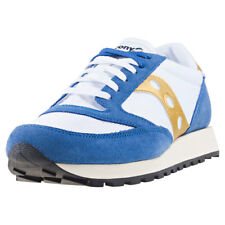 Saucony Jazz Original Vintage Mens White Suede & Mesh Casual Trainers Lace-up