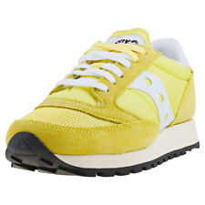 Saucony Jazz Original Vintage Womens Yellow Suede & Mesh Casual Trainers Lace-up