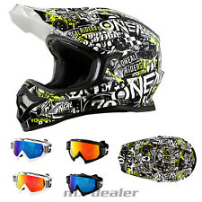 O'NEAL 3series Attack NEON CASCO CROSS Casco MX Motocross Cross HP7 GAFAS ENDURO