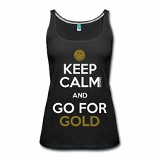 Smiley World Keep Calm Go For Gold Frauen Premium Tank Top von Spreadshirt®