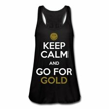Smiley World Keep Calm Go For Gold Frauen Tank Top von Bella von Spreadshirt®