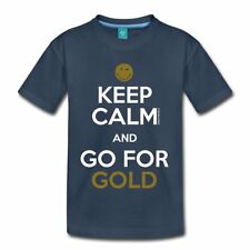 Smiley World Keep Calm Go For Gold Teenager Premium T-Shirt von Spreadshirt®