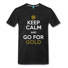 Smiley World Keep Calm Go For Gold Männer Premium T-Shirt von Spreadshirt®
