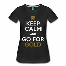 Smiley World Keep Calm Go For Gold Frauen Premium T-Shirt von Spreadshirt®