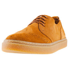 Fred Perry Linden Brogue Mens Ginger Suede Casual Shoes Lace-up Genuine Shoes