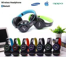 Foldable Wireless Bluetooth Stereo Headset Headphones HandFree Mic For Mobile PC