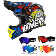 O'NEAL 3Series SAUVAGE multi Casque S CROSS MX MOTOCROSS Traverser HP7 lunettes