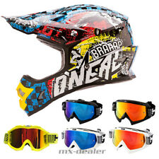 O'NEAL 3series SALVAJE Multi CASCO M CRUZ MX Motocross Cross HP7 Gafas DH Quad