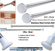 Extendable Telescopic Shower Curtain 90-160cm  125-220cm Rail Rod Pole Bath Rods