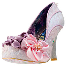 Irregular Choice Peach Melba Womens Pink Synthetic & Fabric Casual Shoes Slip-on