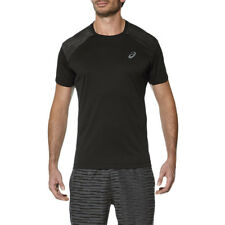 Asics Short Sleeve Top Mens Tee Training Wicking Running Crossfit T-Shirt Black