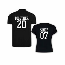 Valentine Gifts Together Since 2007 Couple Tshirts for Men Polo Women Round Neck