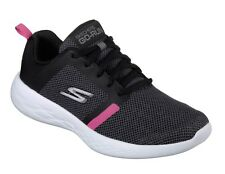 Skechers NEW Go Run 600 Revel black hot pink gym sports trainers sizes 3-8