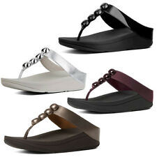 New Women's FitFlop Rola Leather Toe-Post