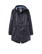 Joules GOLIGHTLY MUJER PLEGABLE Chaqueta Impermeable - Azul Marino Lunares