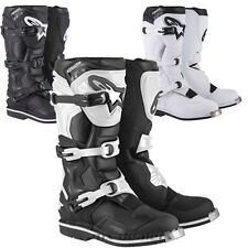 Alpinestars Tech1 TECH 1 stivali nero bianco MX motocross enduro cross BARCA