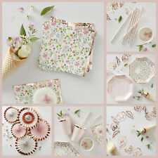 DITSY FLORAL ROSE GOLD PARTY ACCESSORIES - Vintage Style Hen Party | Tea Party