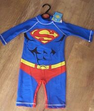 Superman 40+ upf uv sun protection all in one swimsuit PICK YOUR SIZE New