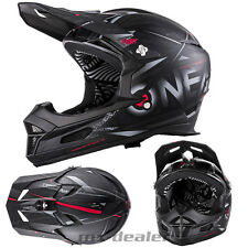 O'NEAL 18 FURIA synthy NERO RL MTB DH DOWNHILL CASCO FREERIDE Go Pro supporto