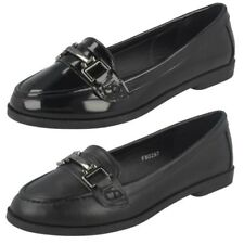 Mujer Spot On Planos Sin Cordones Mocasines THE STYLE -f8r0297