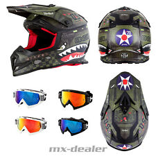 Oneal 5 Series Warhawk VERDE CASCO CROSS MX Motocross HP7 GAFAS ENDURO