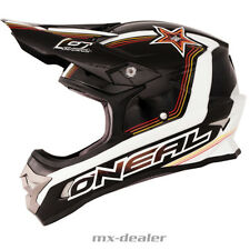 O'NEAL 3Series STAR NERO BIANCO CASCO CROSS CASCO MX motocross S XL