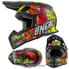 O'NEAL 5Series VANDAL GIALLO FLUO CASCO CROSS MX motocross S M L XL ENDURO QUAD