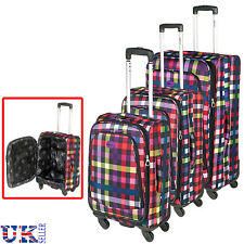 New Highbury Suitcase Luggage Trolley Bags Spinner Wheeled Travel Bag