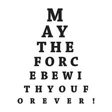 "Adesiviamo ""May the Force be with you"" Star Wars Wall Sticker Adesivo da Muro"