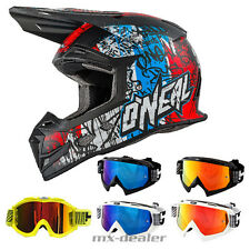 O'NEAL 5Series VANDAL BLU CASCO CROSS MX motocross HP7 OCCHIALI ENDURO
