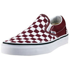 Vans Classic Slip-on Checkerboard Womens Red Canvas Casual Slip On Slip-on