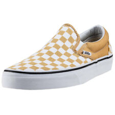 Vans Classic Slip-on Checkerboard Unisex Yellow Canvas Casual Slip On