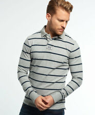 Superdry Hombre Polo a rayas Miami Lt Gris Grindle