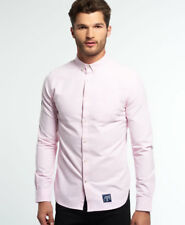 Superdry Hombre Camisa Ultimate Oxford Coast Rosadodo
