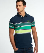 Superdry Hombre Polo Chest Band Grindle Eclipse Navy
